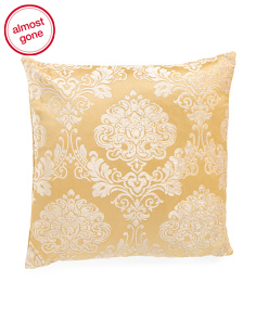 24x24 Oversized Embroidered Medallion Pillow