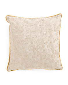 20x20 Rossi Gold Damask Pattern Pillow