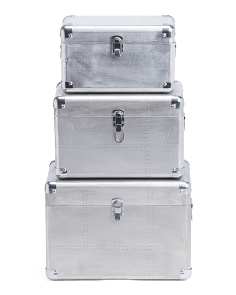 3pc Nesting Osum Metal Trunks