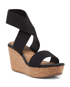 Geena Elastic Wedge Sandals