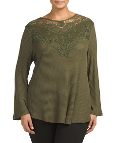 Plus Lace Knit Top