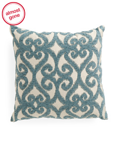 18x18 Medallion Scroll Pillow