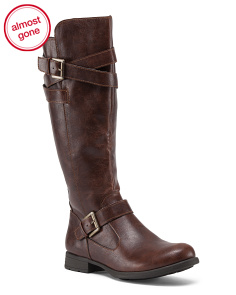 High Shaft Boot With Side Zip