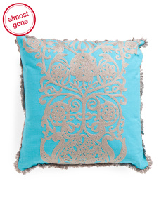 20x20 Embroidered Scroll Pattern Pillow