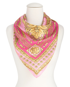 Made In Italy Geo Square Foulard Silk Scarf