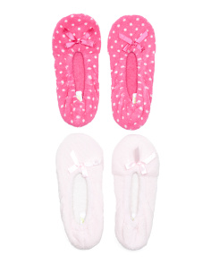 2pk Ballet Slippers With Bow