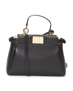 Made In Italy Micro Peekaboo Leather Bag