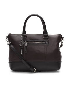 City Sleek Leather Satchel