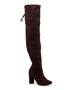 Over The Knee Wrapped Block Heel Boots