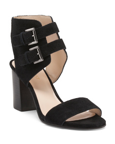 Galiceno Double Buckle Suede Heels