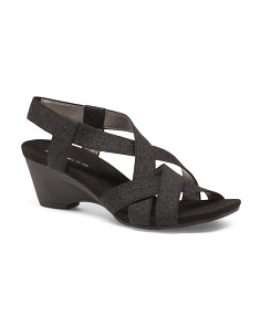 Elastic Wedge Sandals