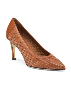 Made In Italy Woven Leather Pumps