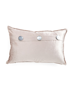 16x24 Velvet 3 Button Pillow