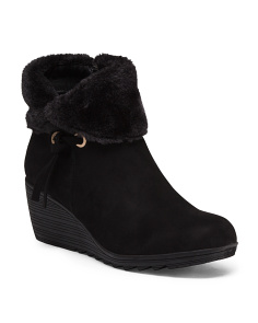 Cuff Down Faux Fur Booties