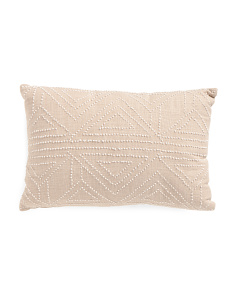 12x18 Natural Knotted Pillow