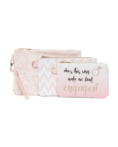 3pc Engaged Pouch Set