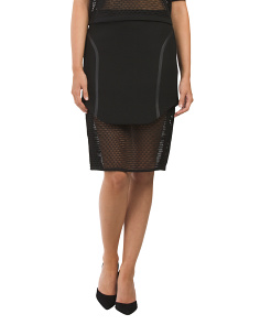 Birds Eye Scuba Head Sealed Seam Skirt