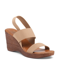 Made In Italy Strappy Wedge Sandals