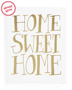 11x14 Home Sweet Home Wall Sign