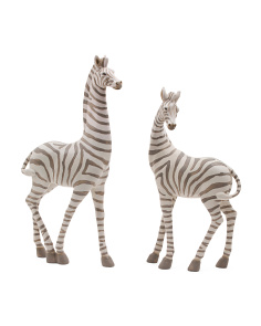 Set Of 2 Zebra Figurines