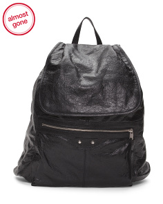 Made In Italy Traveler Leather Backpack