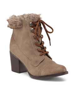 Watcher Lace Up Booties