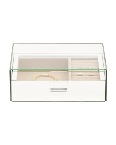 10x7 Mirrored Glass Top Jewelry Box