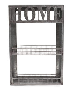 Home Metal Wall Rack And Shelf