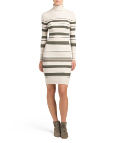 Juniors Stripe Sweater Dress