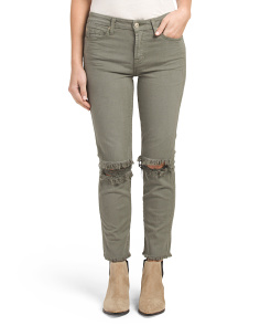 Slim Straight Ankle Jeans