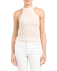 Juniors Sleeveless Cropped Sweater