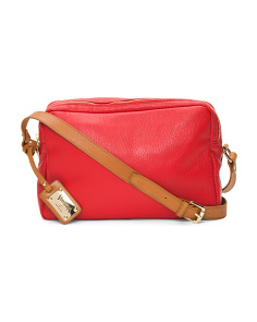 Made In Italy Zip Leather Crossbody
