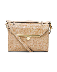 Made In Italy Camera Flap Crocodile Leather Bag