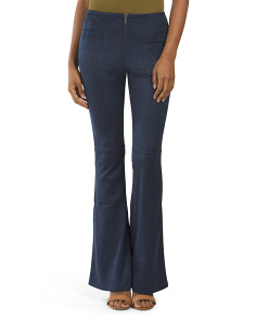 Juniors Sueded Bell Bottom Pants