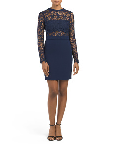 Juniors Lace Illusion Dress