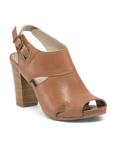 District Buckle Leather Sandals