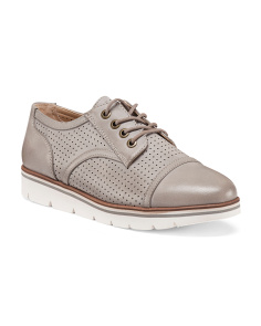 Perforated Oxford Sneakers