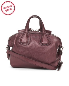 Made In Italy Nightingale Micro Leather Satchel