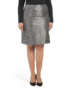 Plus Textured Skirt