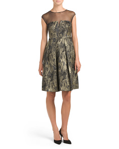 Marble Jacquard Party Dress