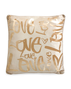18x18 Velvet Love Print Pillow