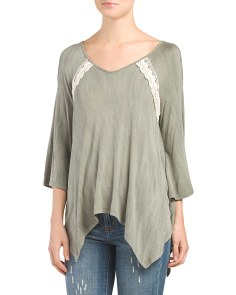 Cold Shoulder Distressed Top