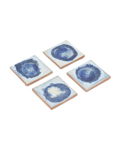 Set Of 4 Geode Crackle Coasters