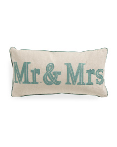 14x27 Mr & Mrs Pillow
