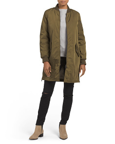 Juniors Shearling Lined Bomber Jacket