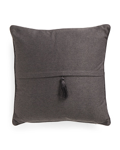 20x20 Feather Filled Faux Linen Pillow