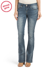 Flap Pocket Boot Cut Jeans