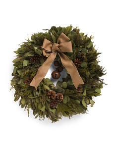22in Rustic Preserved Holiday Wreath