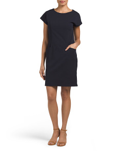 Made In Italy Solid Shift Dress