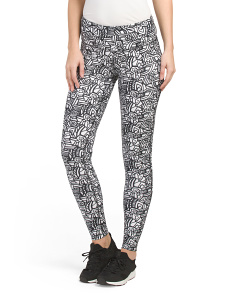 Printed Geo Maze Run Tights